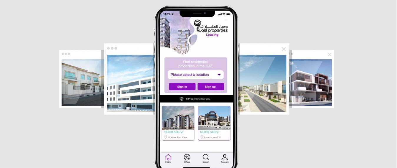 Download wasl properties leasing app