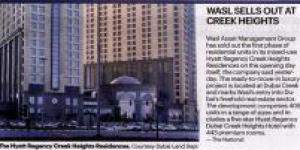wasl Sells Out First Phase of Hyatt Regency Creek Heights Residences